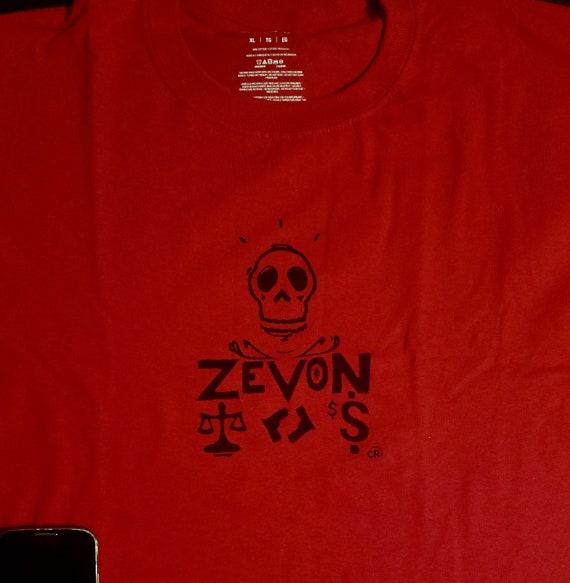 classic rock New Warren Zevon Block Printed Shirt Lawyers Guns and Money Black ink on Gray Cotton Unisex Shirt