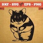 HAMSTER SVG Files, rodent Svg, Png, Dfx, Eps, Hamster Svg, animal, Hamsters Svg Silhoutte Studio Cricut Cameo