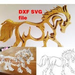 Horse SVG files and DXF file for laser cutting, vinyl, cnc and scroll saw, cricut file - scrapbooking, horse vector, laser cut file, horse