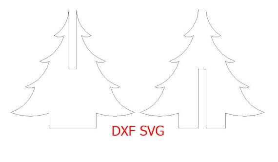 Sapin De Noel Svg Et Dxf Fichier Pour Découpe Laser Et Cnc Fichiers Dxf Pour Laser