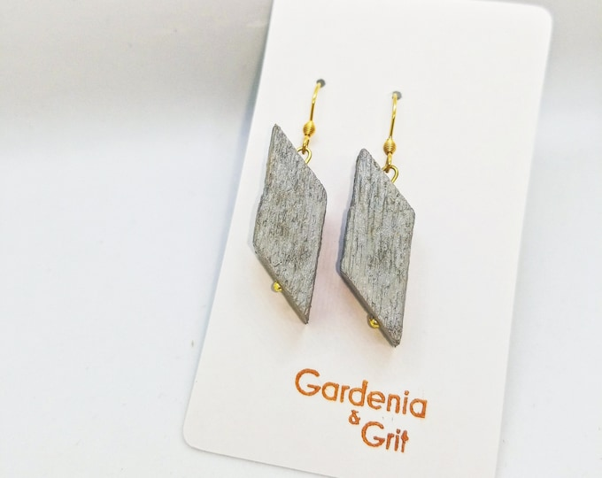 Earrings -  RECLAIMED WOOD DANGLE