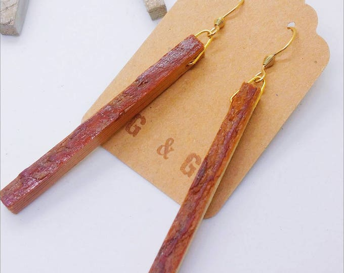 Earrings - RECLAIMED WOOD