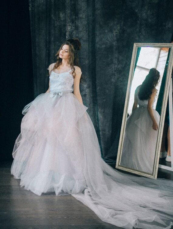 Embellished wedding dress Embroidered bridal gown   Etsy