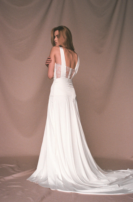 Satin Slip Wedding Dress
