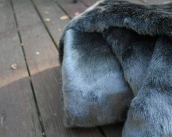 Grey Sable Faux Fur Fabric