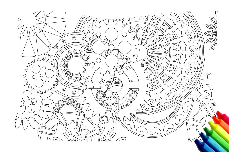 Forma de composición 01 Página para colorear instantánea | Etsy