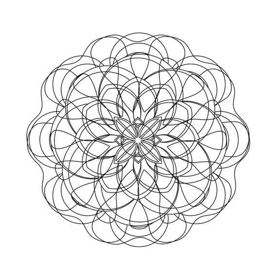Mandala para colorear imprimible descarga inmediata de alta | Etsy