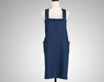 Japanese-style linen apron