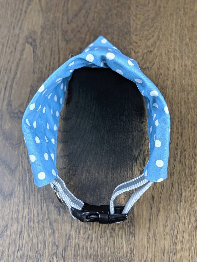 Pastel Spots Blue or Purple Polka Dot Dog Bandana