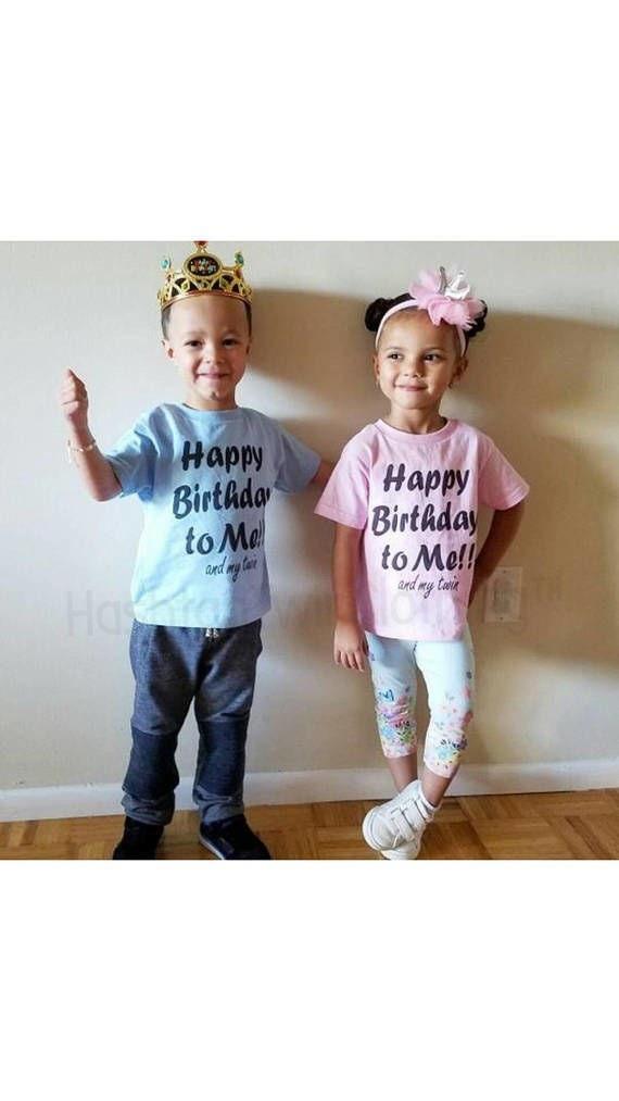 Happy Birthday To Me My Twin Fun Twin Birthday Shirts Etsy