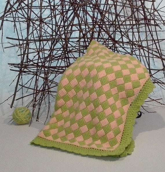 Babydecke häkeln häkeln Kinderwagen Decke grün / | Etsy