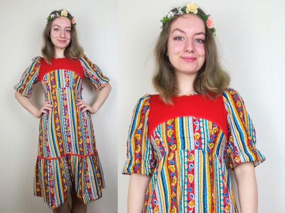Cottagecore 1960s 1970s Dress   Size XS-S   Prairi