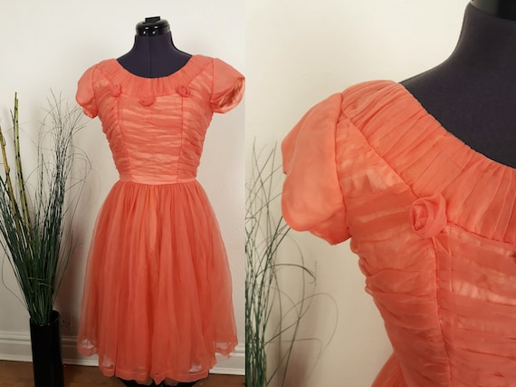 1950s Evening Dress | Size S | Pinup Dress | Paste