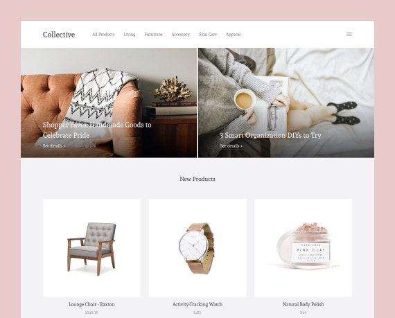Collective Grid Based Theme For Blogger To Showcase Etsy Etsy