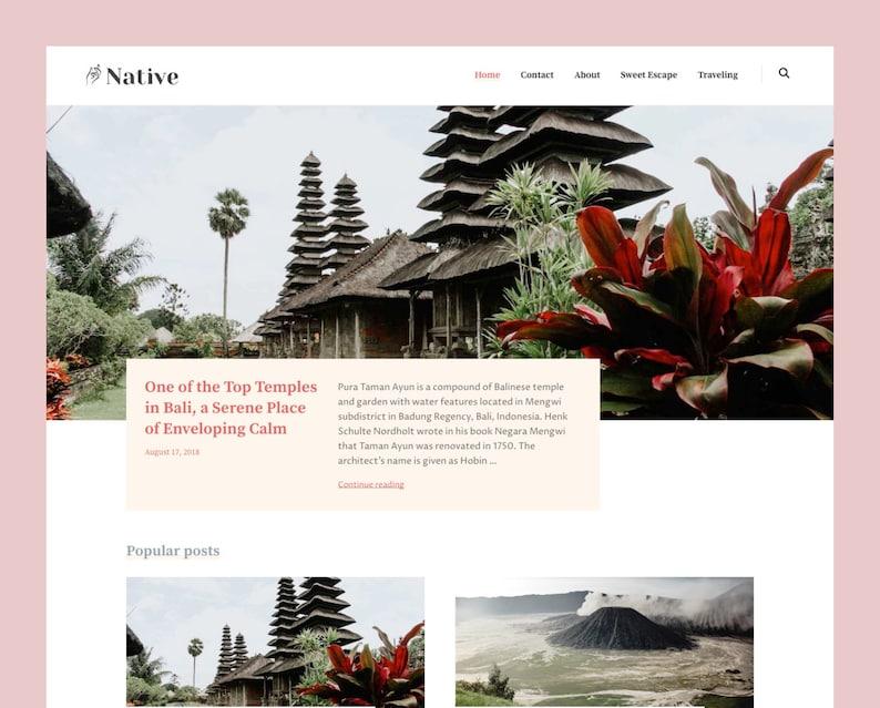 Native: Responsive Blogger template Blogspot template image 0