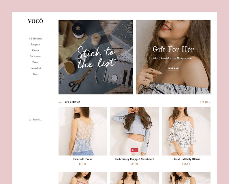 VOCO: Blogger theme to showcase products sold on Etsy image 0