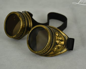 Gold Steampunk Goggles   Cosplay goggles   Steampunk   Cosplay