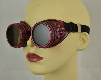 Red Steampunk Goggles   Cosplay goggles   Steampunk   Cosplay