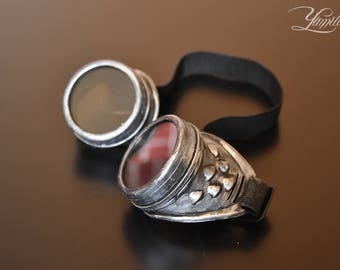Silver steampunk goggles   Cosplay goggles   Steampunk   Cosplay