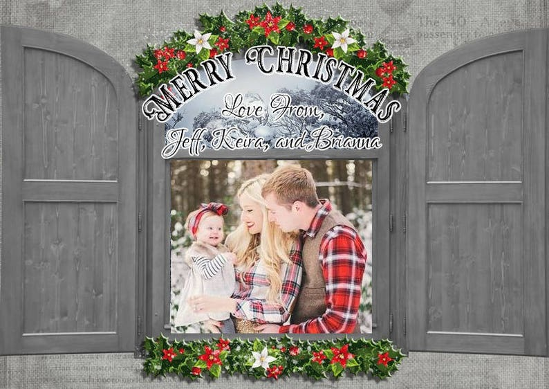 Addressed Christmas Cards.Personalized Christmas Cards With Calligraphy Addressed Envelopes And Mailed In Sets Of 12