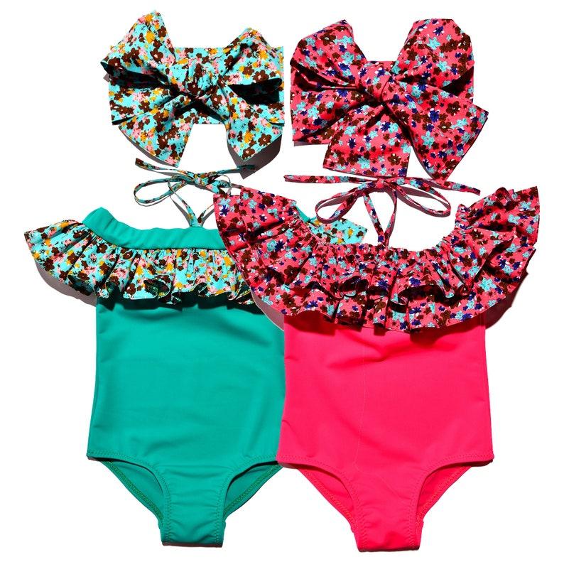 07dab820dba8 Twins Baby Gift Bikini Set Kids Bathing Suit Swimmer