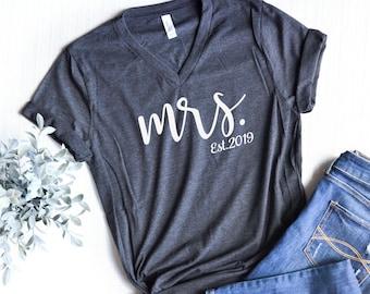 db13ed8afc Honeymoon Shirt, Mrs Shirt, Wife Shirt, Newlywed Shirt, Honeymoon Shirts, Custom  Mrs Shirt, Bride Gift,