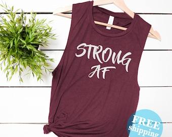 12bbd26194ec3b Strong AF muscle tank top shirt