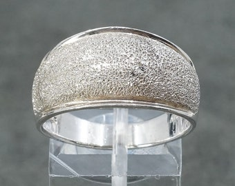 stamped Mexico 925 Size 8 sterling silver handmade ring vintage Mexico 925 Silver with artisan glass stone 310178