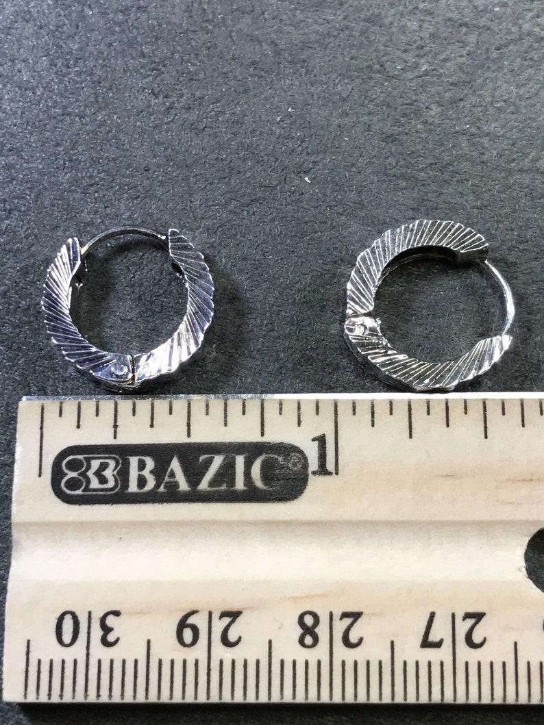 fine solid Thailand 925 silver hoops 0.5 Sterling 300149 Stamped 925 silver hoop earrings