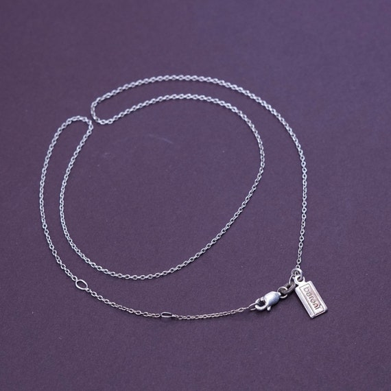 Sterling silver handmade bracelet vintage solid 925 silver heart link chain stamped 925 7.25 330267