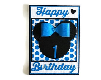 1st Birthday Card Boys Boy 1 Year Old Milestone Cards Age One Today