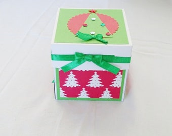 exploding card christmas gift boxes with lids exploding box card christmas table centerpiece christmas tree card exploding box