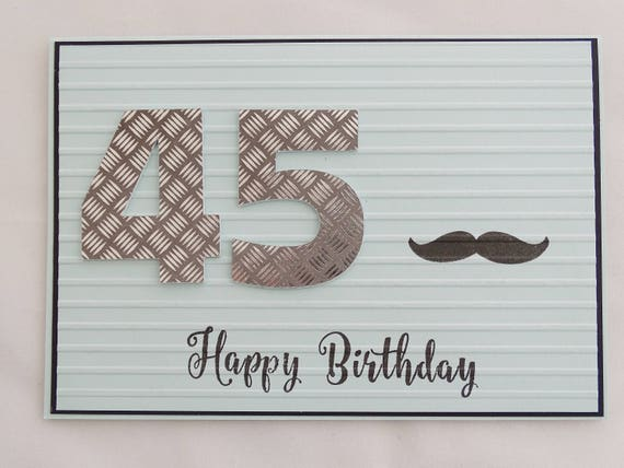45th Birthday Card Gift For Men