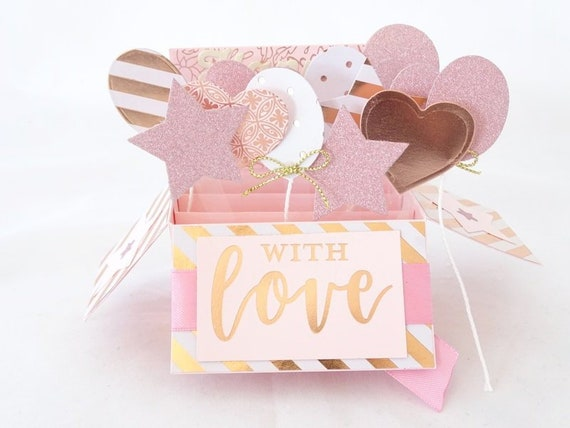 Rose Gold Birthday Card And Blush