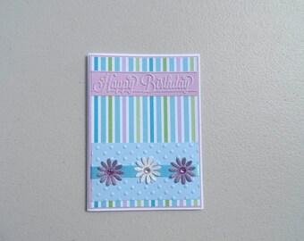 Happy birthday flower card, Flower birthday card, Floral birthday card, Flower card, Happy birthday card, Happy birthday friend