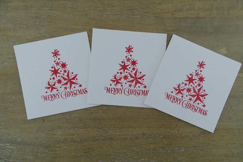 Christmas Notecard.Christmas Tree Notecards Cute Mini Cards Christmas Notecard Set Mini Christmas Cards Small Holiday Card Set