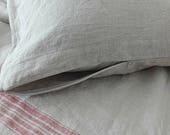 Linen pillowcase.Zip closed pillowcase.pillowcase queen.Organic pillow cover.Natural linen pillowcase.Body pillow case.linen pillow cover