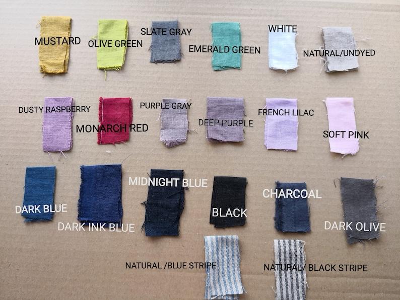 Linen pillowcase .Ruffled Linen sham with  tiesstone washed softened  linen body pillow caselinen pillow cover