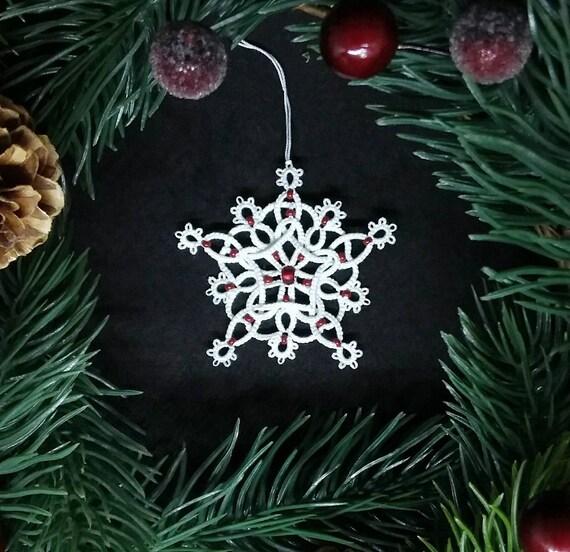 Keltische Spitze Sterne Christbaumschmuck Perlen Schneeflocke Etsy
