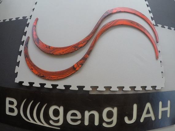 Buugeng Flow art Tribal fusion S staff Juggling art Festival gear Gustavo Ollita/'s shape Go.4 84cm 4 pieces UV Glow