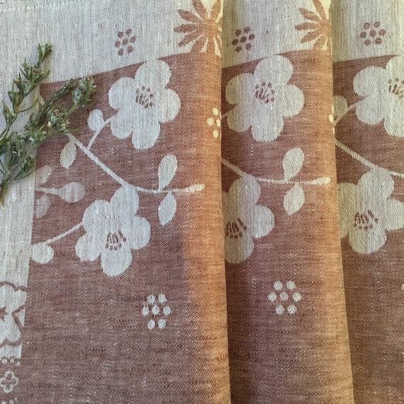 Linen Tea towel Hanging Dish Cloth Flax Linen Jacquard Kitchen Autumn Harvest