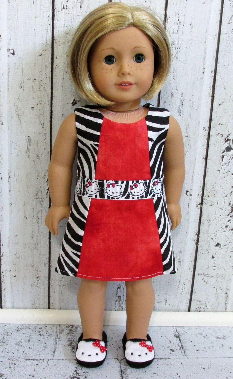 322b179ba Hello Kitty Inspired Dress to Fit American Girl Doll.18-inch | Etsy