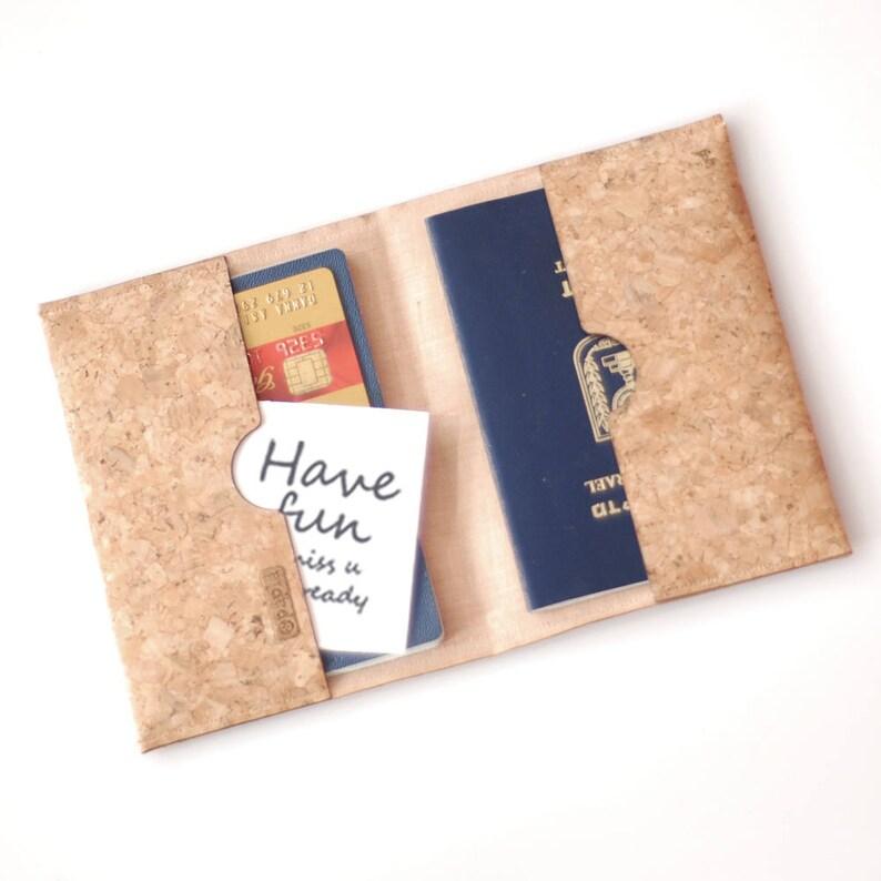 6a3e1330fac1 Passport set, Vegan gift, Envelope, passport cork, Document case, Boho  Brown, Cork case, Woman Vegan, Birthday Gift, travel gift, Case
