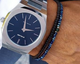Jade Bracelet, Mens Jewelry, Minimalist Bracelet, Gifts for Men, Beaded Bracelet, Birthday Gift, Gift for Husband, Boyfriend Gift, Set