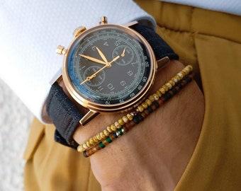 Tourmaline Bracelet, Sapphire Bracelet, Birthday Gift, Mens Gift, Mens Bracelet, Minimalist Bracelet, Bracelet Set