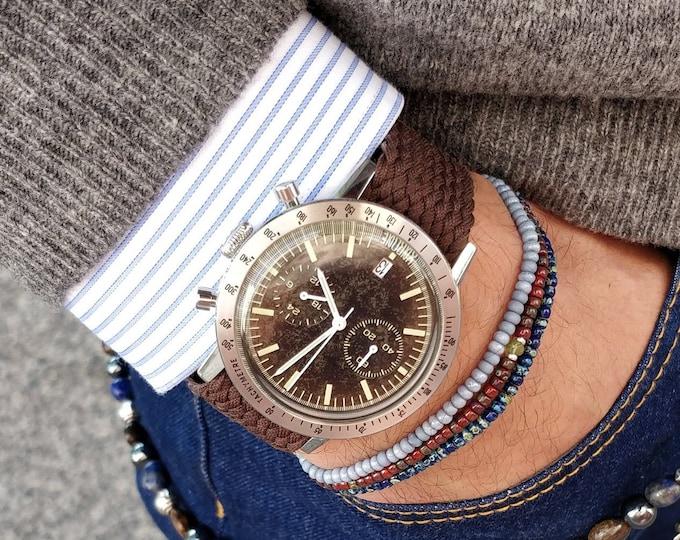 Featured listing image: Citrine Bracelet, Men's Beaded Bracelet, Mens gifts, Gift for Husband, Boyfriend Gift, Birthstone bracelet, Anniversary Couples Bracelet