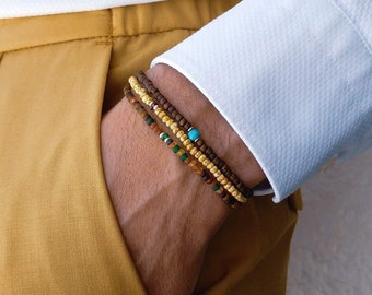 Turquoise Bracelet, Tourmaline Bracelet, Sapphire Bracelet, Birthday Gift, Mens Gift, Mens Bracelet, Minimalist Bracelet, Bracelet Set