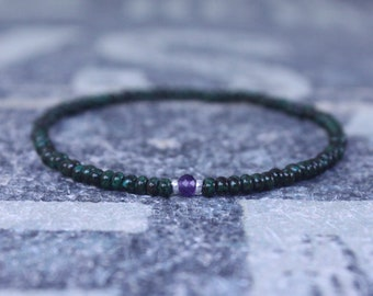 Amethyst Bracelet, Birthstone Bracelet, Gemstone Bracelet, Beaded Bracelet, gift for Men, Mens Gift, Bead Bracelet, Friendship Bracelet