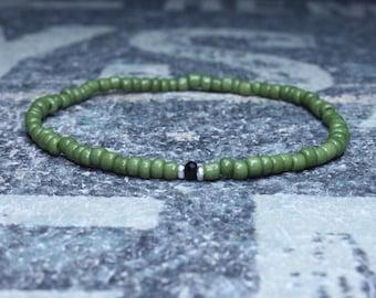 Black Onyx bracelet man, Onyx bracelet man, Beaded bracelet man, multicolor bracelet man, Mens rainbow bracelet, Mens gift, Anniversary gift