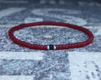 Black Tourmaline Bracelet, Mens Jewelry, Minimalist Bracelet, Gifts for Men, Anniversary, Birthday Gift, October birthstone Boyfriend Gift
